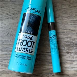 Used 1x L'Oréal Magic Root coverup spray and brush